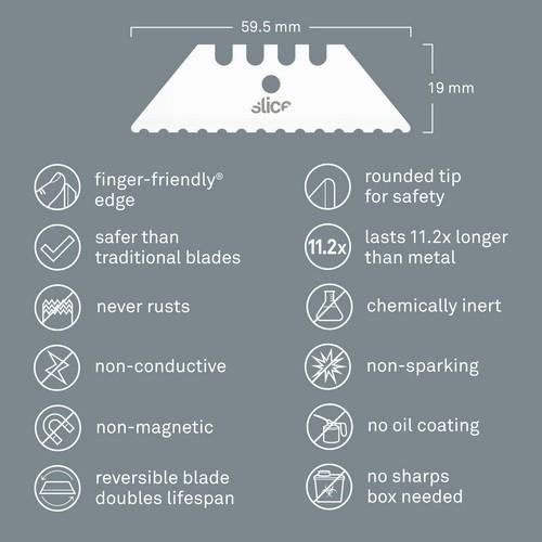 Slice Utility Blades (Serrated Edge). SL011853