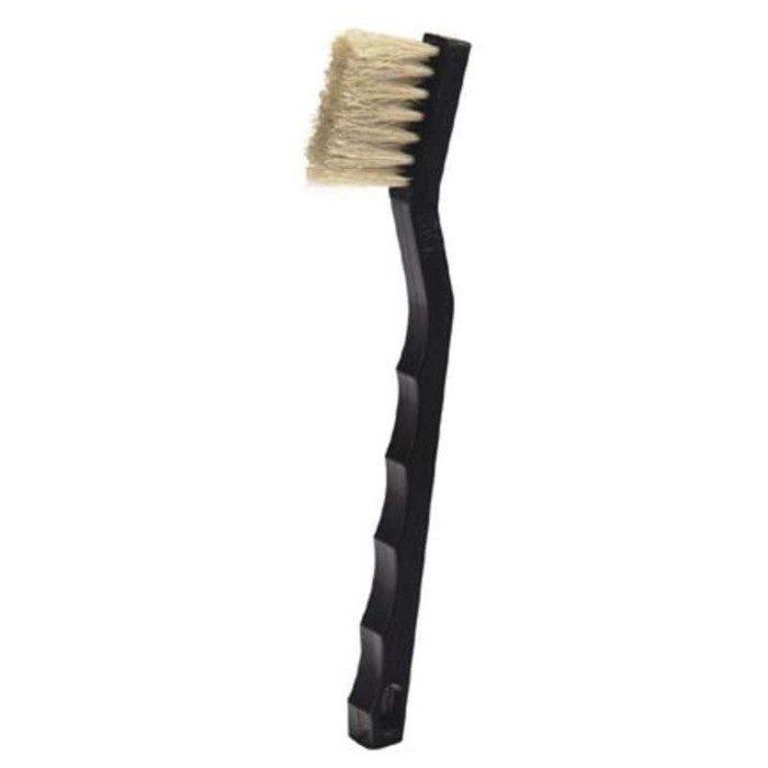 3 x 7 Row Horse Hair Bristle and Plastic Handle Long Trim Scratch Brush