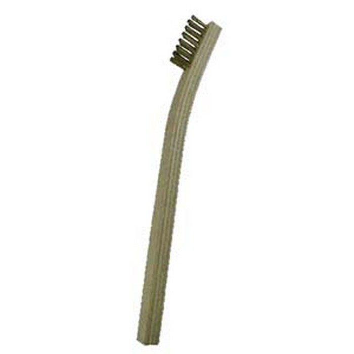 "3 x 7 Row .006"" Brass Bristle and Plywood Scratch Brush"