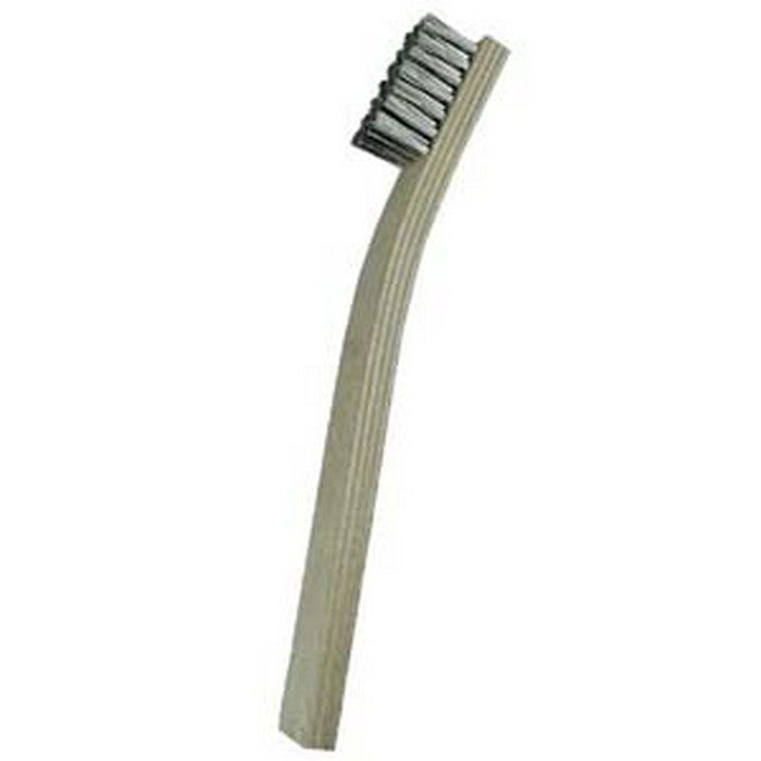 7 x 7 Row Stainless Steel and Plywood Handle Scratch Brush